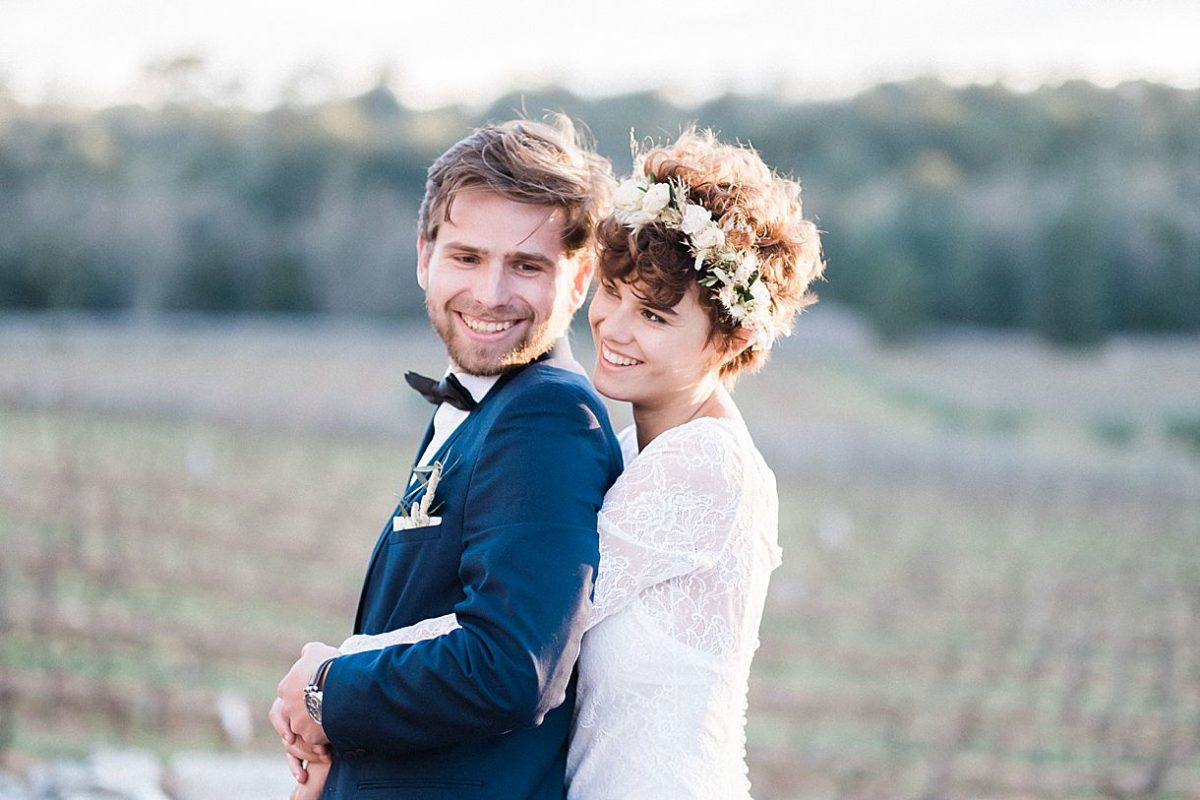 photographe de mariage professionnel en Provence à Toulon sur un coucher de soleil à la commanderie de peyrassol à flassans sur issole sur la Côte d'Azur
