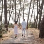 engagement session in gironde on the arcachon bay near bordeaux with pixaile photography destination wedding photographer