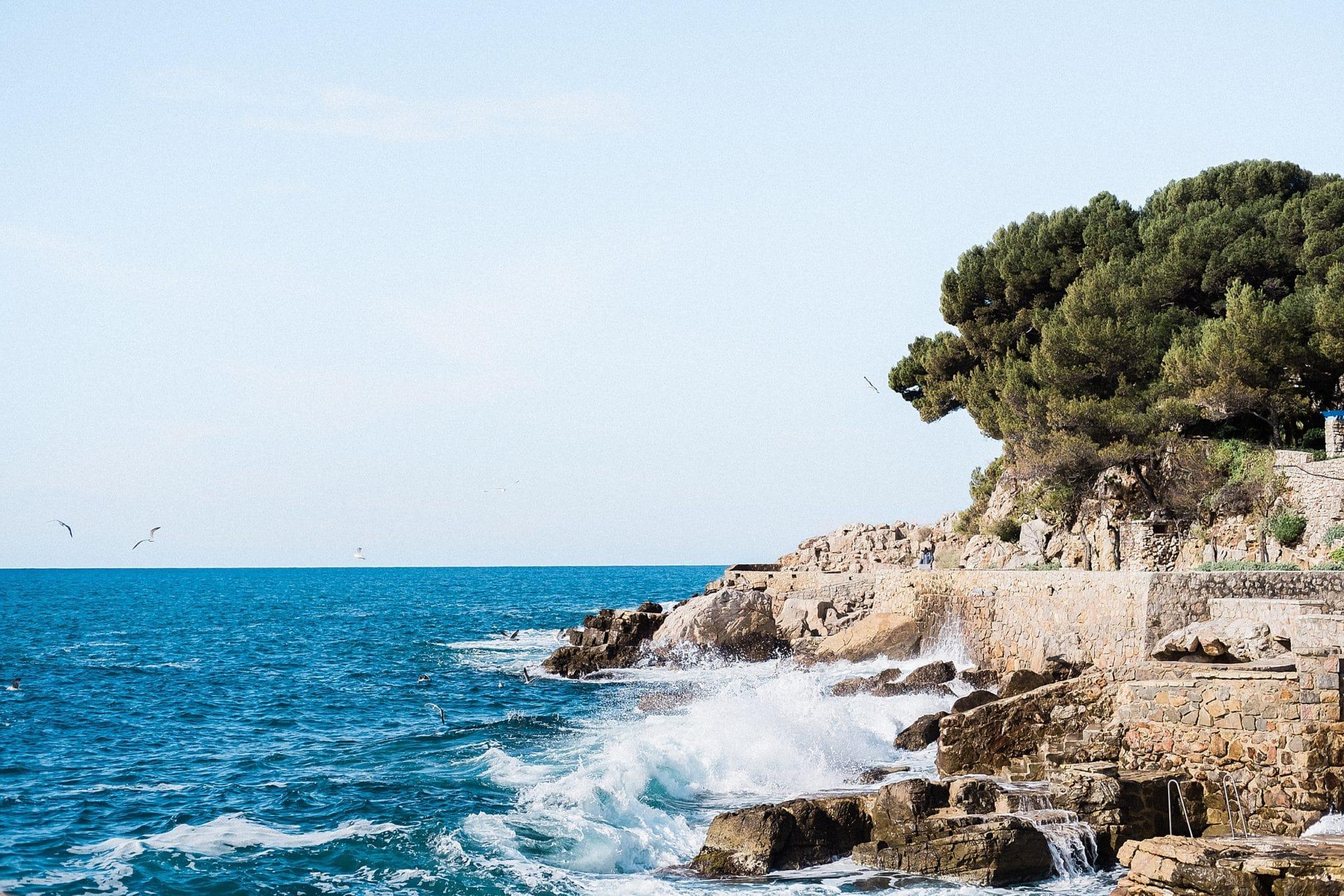 ile de bendor vue sur la Méditerranée en provence
